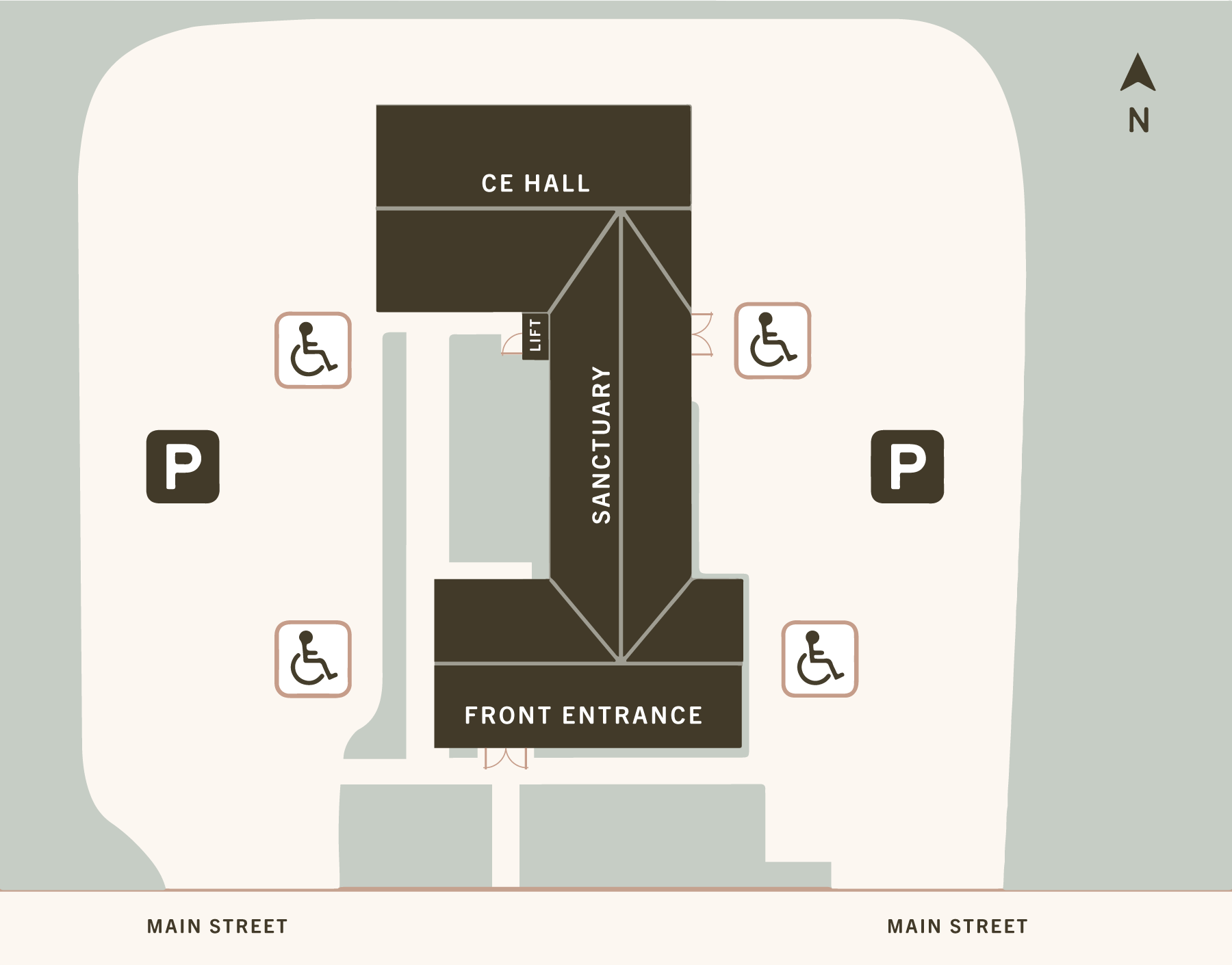 Church Parking Map